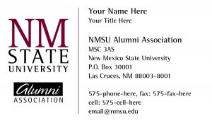 NMSU Alumni Association - Business Card