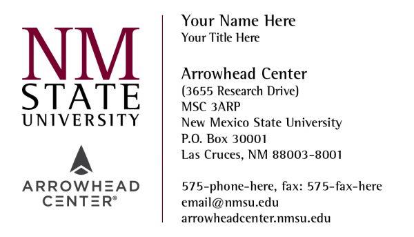 NMSU Arrowhead Center - Business Cards