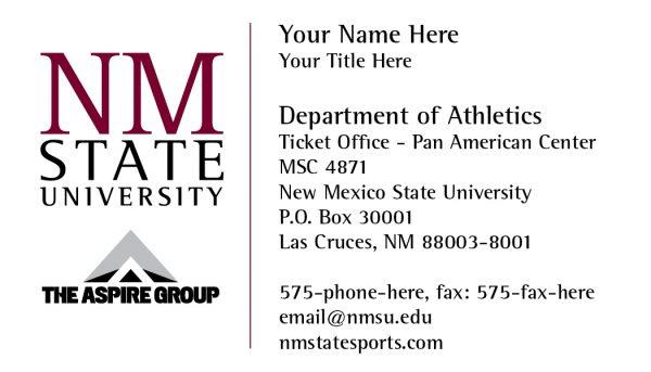 NMSU Aspire Group - Business Card