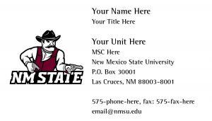 NMSU Athletics Business Card