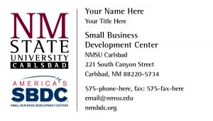 NMSU Small Business Development Centers, Carlsbad Business Cards
