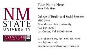 NMSU Crimson Research Business Card