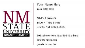 NMSU Grants Campus - Business Cards