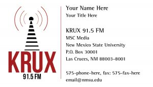 NMSU KRUX - Business Card