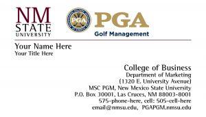 NMSU PGA - Business Card