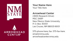 NMSU Arrowhead Center - Business Cards
