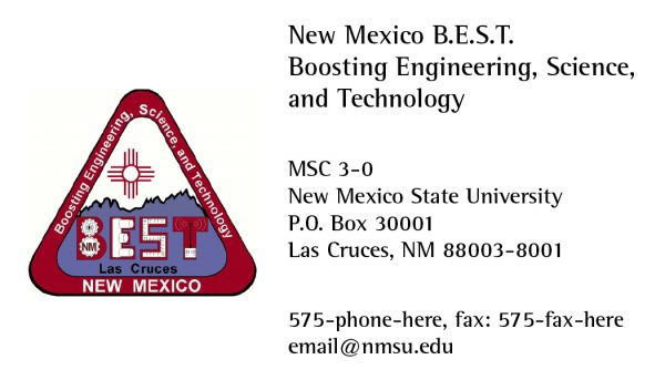 NMSU BEST (Boosting Engineering, Science, and Technology) - Business Card
