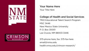 NMSU Crimson Research - Business Cards