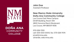 NMSU DACC - Business Cards