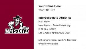 NMSU Intercollegiate Athletics - Business Cards
