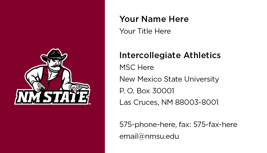 NMSU Intercollegiate Athletics - Business Cards