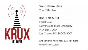 NMSU KRUX - Business Cards