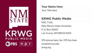 NMSU KRWG FM & TV - Business Cards