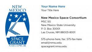 NM Space Consortium- Business Cards