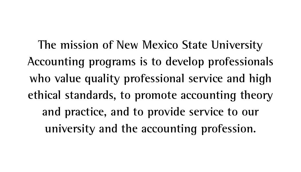 NMSU Accounting Mission Statement