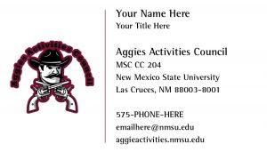 Aggies Activities Council Business Card