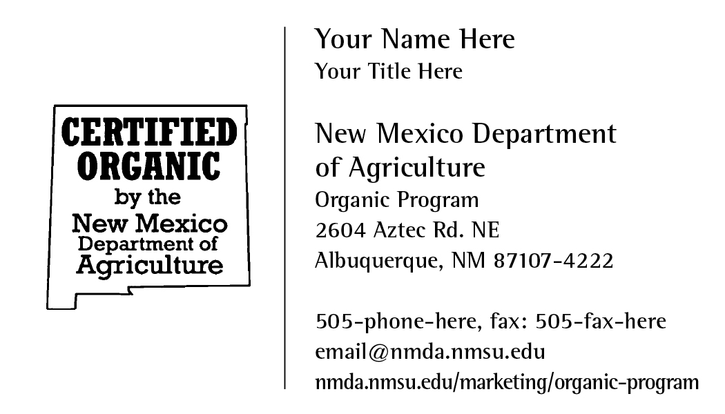 Certified Organic by the NMDA