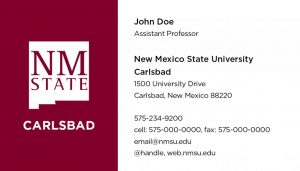 NMSU Carlsbad - Business Cards