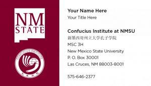 NMSU Confucius Institute - Business Cards