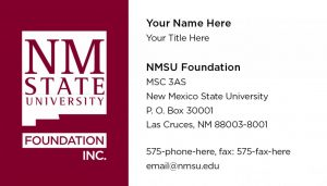 NMSU Foundation - Business Cards
