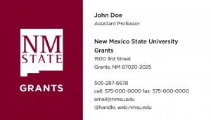 NMSU Grants - Business Cards