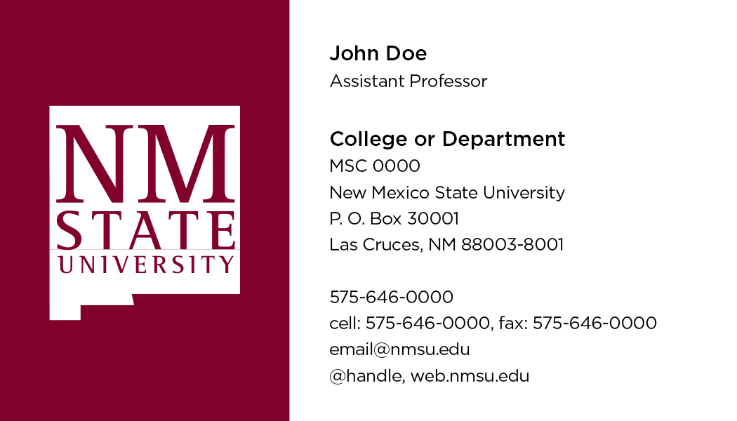 NMSU Teaching Academy - Business Cards - Del Valle Design & Imaging