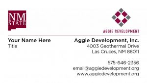 Aggie Development, Inc. - Business Cards