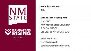 NM Educators Rising - Business Cards