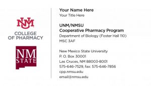 UNM/NMSU Cooperative Pharmacy Program - Business Cards Variant