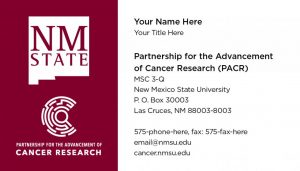 Partnership for the Advancement of Cancer Research – Business Cards